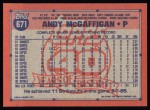 1991 Topps #671  Andy McGaffigan  Back Thumbnail