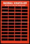 1971 Topps Scratch Offs #10  Al Kaline  Back Thumbnail