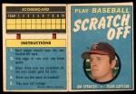 1971 Topps Scratch Offs #20  Jim Spencer      Front Thumbnail