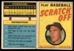 1970 Topps Scratch Offs #22  Mel Stottlemyre  Front Thumbnail