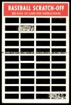 1970 Topps Scratch Offs #16  Tony Perez  Back Thumbnail