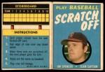1970 Topps Scratch Offs #20  Jim Spencer  Front Thumbnail