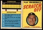 1970 Topps Scratch Offs #10  Al Kaline      Front Thumbnail