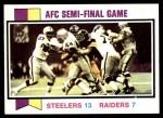 1973 Topps #134   AFC Semi-Final Front Thumbnail