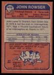 1973 Topps #408  John Rowser  Back Thumbnail