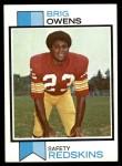 1973 Topps #442  Brig Owens  Front Thumbnail