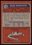 1973 Topps #144  Bob Windsor  Back Thumbnail