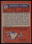 1973 Topps #261  Horace Jones  Back Thumbnail