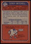 1973 Topps #217  Leroy Mitchell  Back Thumbnail