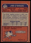 1973 Topps #379  Jim O'Brien  Back Thumbnail