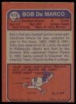 1973 Topps #478  Bob DeMarco  Back Thumbnail