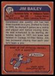1973 Topps #177  Jim Bailey  Back Thumbnail