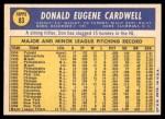 1970 Topps #83  Don Cardwell  Back Thumbnail