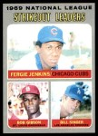 1970 Topps #71   -  Bob Gibson / Fergie Jenkins / Bill Singer NL Strikeout Leaders Front Thumbnail