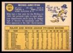 1970 Topps #591  Mike Ryan  Back Thumbnail