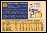 1970 Topps #689  Frank Tepedino  Back Thumbnail