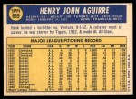 1970 Topps #699  Hank Aguirre  Back Thumbnail