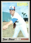1970 Topps #476  Don Shaw  Front Thumbnail