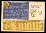 1970 Topps #502  Rollie Fingers  Back Thumbnail