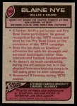 1977 Topps #160  Blaine Nye  Back Thumbnail
