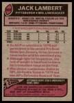 1977 Topps #480  Jack Lambert  Back Thumbnail