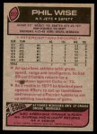 1977 Topps #377  Phil Wise  Back Thumbnail