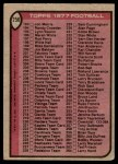 1977 Topps #256   Checklist 133-264 Back Thumbnail