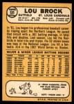 1968 Topps #520  Lou Brock  Back Thumbnail