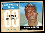 1968 Topps #370   -  Hank Aaron All-Star Front Thumbnail