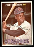 1967 Topps #64  Fred Valentine  Front Thumbnail