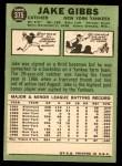 1967 Topps #375  Jake Gibbs  Back Thumbnail