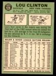 1967 Topps #426  Lou Clinton  Back Thumbnail