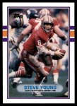 1989 Topps Traded #24 T Steve Young  Front Thumbnail