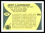 1989 Topps Traded #49 T Jeff Lageman  Back Thumbnail
