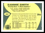 1989 Topps Traded #56 T Sammie Smith  Back Thumbnail
