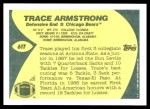 1989 Topps Traded #61 T Trace Armstrong  Back Thumbnail