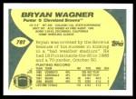 1989 Topps Traded #78 T Bryan Wagner  Back Thumbnail