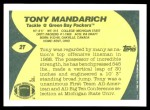 1989 Topps Traded #2 T Tony Mandarich  Back Thumbnail