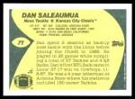 1989 Topps Traded #7 T Dan Saleaumua  Back Thumbnail