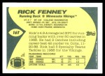 1989 Topps Traded #16 T Rick Fenney  Back Thumbnail