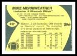 1989 Topps Traded #25 T Mike Merriweather  Back Thumbnail