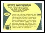 1989 Topps Traded #33 T Steve Wisniewski  Back Thumbnail