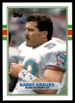 1989 Topps Traded #63 T Barry Krauss  Front Thumbnail