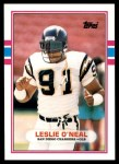 1989 Topps Traded #73 T Leslie O'Neal  Front Thumbnail