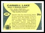 1989 Topps Traded #80 T Carnell Lake  Back Thumbnail