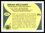 1989 Topps Traded #92 T Brian Williams  Back Thumbnail