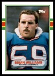 1989 Topps Traded #92 T Brian Williams  Front Thumbnail