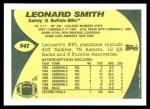 1989 Topps Traded #94 T Leonard Smith  Back Thumbnail