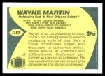 1989 Topps Traded #118 T Wayne Martin  Back Thumbnail