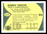 1989 Topps Traded #121 T Andy Heck  Back Thumbnail